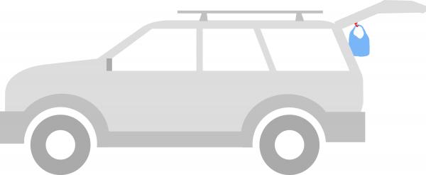 SUV RVing trash management