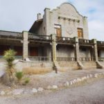 The rhyolite train depot/casino.
