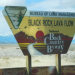 Black Rock Lava Flow sign