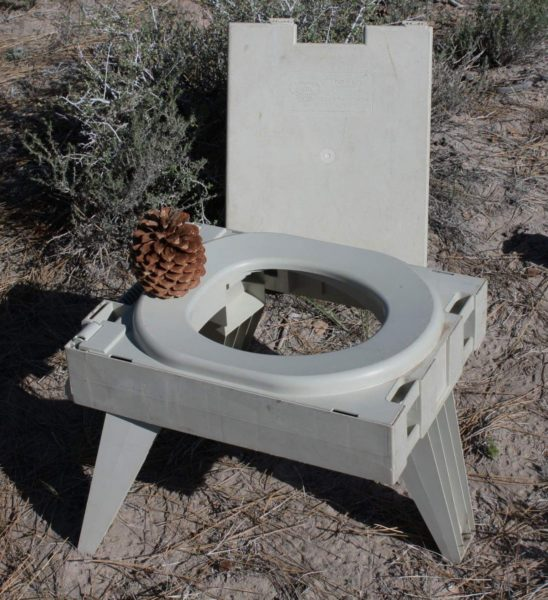 Man's best friend: this porta-potty folds up into a package the size of a large briefcase. A collapsible military-grade shovel completes the set. Please pack out your used toilet paper and secure your deposit with a large rock to prevent coyotes from digging it up.