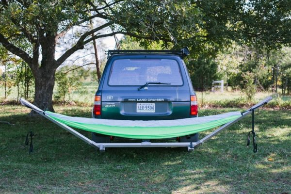 Above: The Hitchhiker hitch-mounted hammock stand