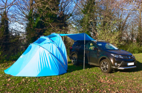 The sheltaPod awning/tent.