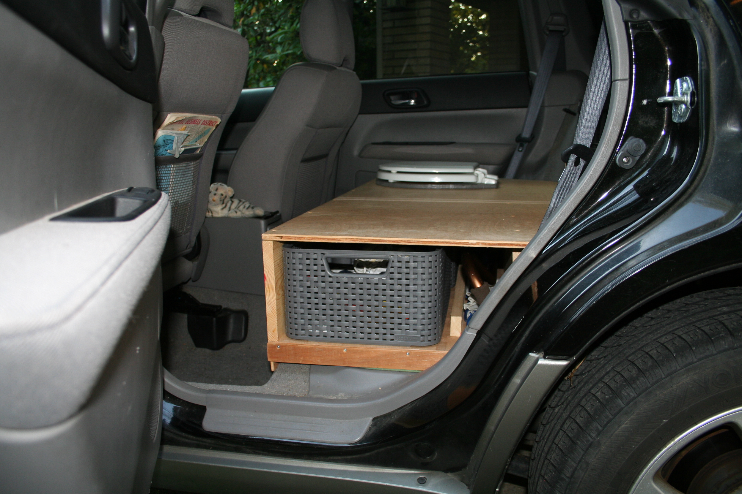 Adding a Toilet to a Subaru Forester for SUV Camping – SUV RVing